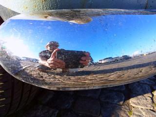 Car bumber selfie