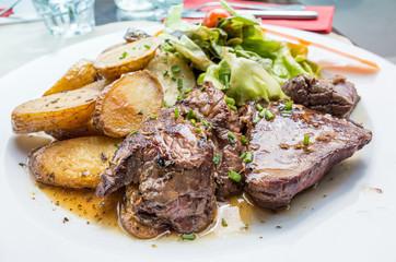 juicy steak beef