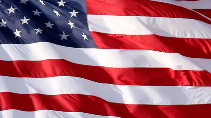 American Flag Slow Waving