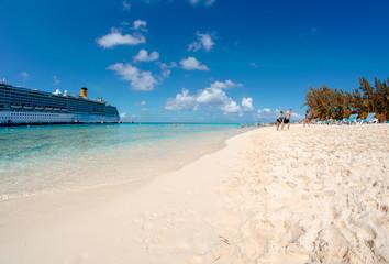 Spectacular beach in Turks and Caicos, Caribbean