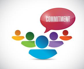 commitment teamwork message illustration