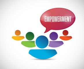 empowerment teamwork message illustration