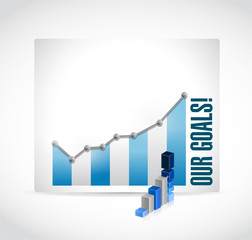 business our goals graphs illustration design