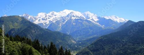 Deurstickers Alpen Le Mont-Blanc depuis Passy, France