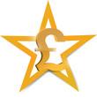 gold pound symbol illustration design