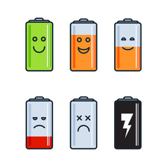 Battery indicator icons