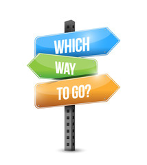which way to go sign illustration design