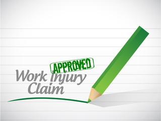 work injury claim approved illustration design