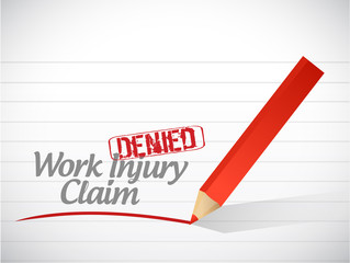 work injury claim denied illustration design