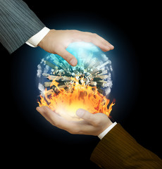 Heaven and hell  in the hands of businessmen