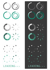 Vector illustration of loading icons