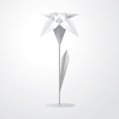 Vector origami flower
