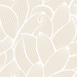 Vector seamless hand-drawn pattern with leaf. - 69019847