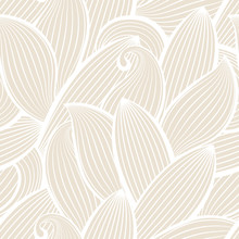 Vector seamless hand-drawn pattern with leaf.