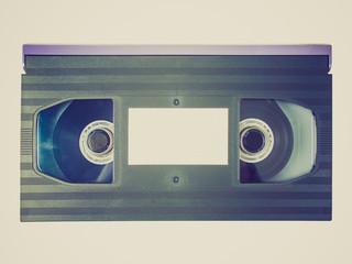 Retro look Betamax tape cassette