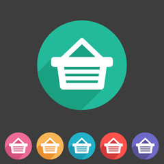 Shopping basket flat icon