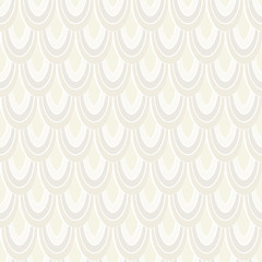Vector seamless pattern with abstract feathers