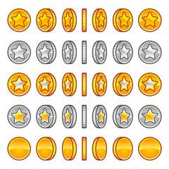 Star coins rotation