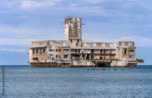 Ruins of Nazi torpedo development center in Gdynia, Poland