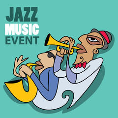Jazz Music Event Abstract Art (Vector Art)