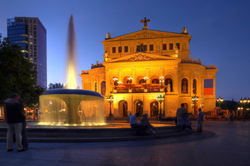 Old Opera House in Frankfurt, Germany