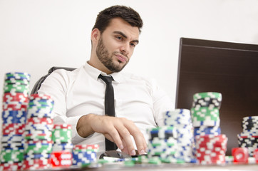 Disgusted poker player online