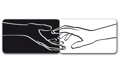 Hände Völker verbinden