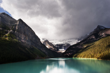 Panorama of the beautiful lake Louise