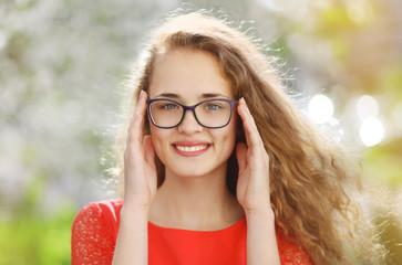 Charming girl in glasses