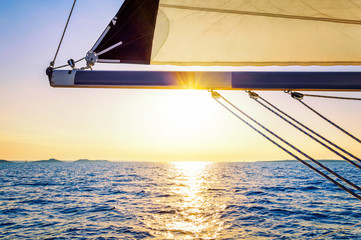 Sunset on sailing