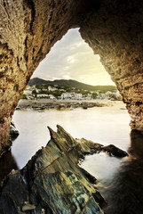 A natural frame of the coast of Cadaques