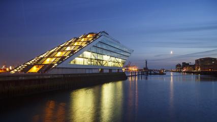 Hamburg Dockland at Night