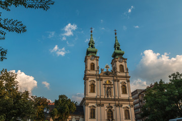 Saint Anne Church in Budapest Hungary