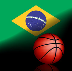 Brazilian basket ball, vector
