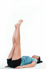 Woman making abs training