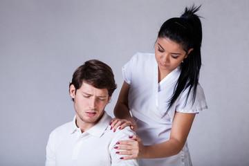 Patient with painful shoulder