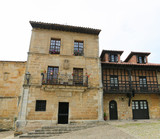 Architecture in the famous Cantabrian village Santillana del Mar
