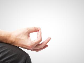 hand in meditation