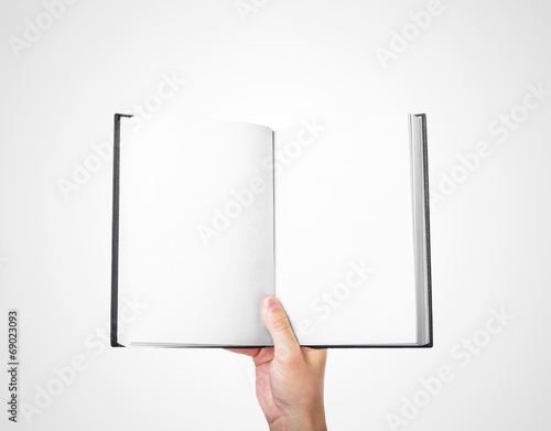 canvas print picture hand holding book