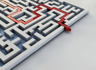Labirinto freccia percorso