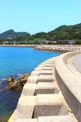 仏崎の海岸風景