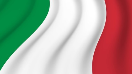 Waving national flag of Italy