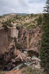 The Foot of Shell Falls in Bighorn National Forest