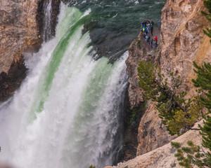 Closeup of Yellowstone Falls