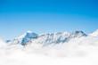 Snow Mountain Range Landscape with Blue Sky from Jungfrau Region