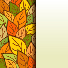 Composition of autumn leaves.