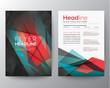 Zdjęcia na płótnie, fototapety, obrazy : Abstract Triangle Brochure Flyer design template layout