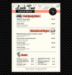 Restaurant Lunch menu design Template layout - 69025470