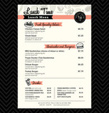 Fototapety Restaurant Lunch menu design Template layout