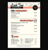 Restaurant Lunch menu design Template layout